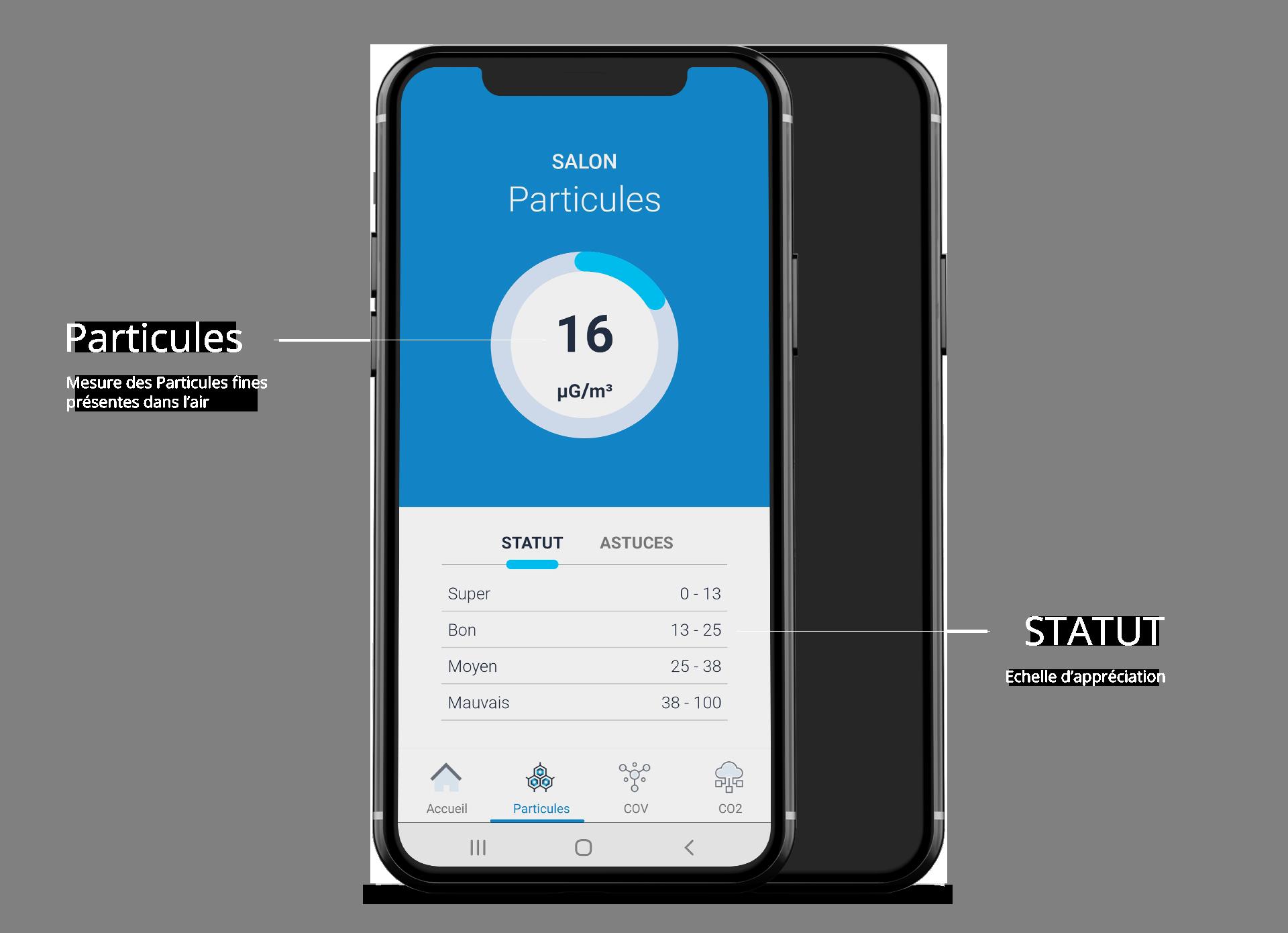Particules Fines (PM1 PM2.5 PM10)